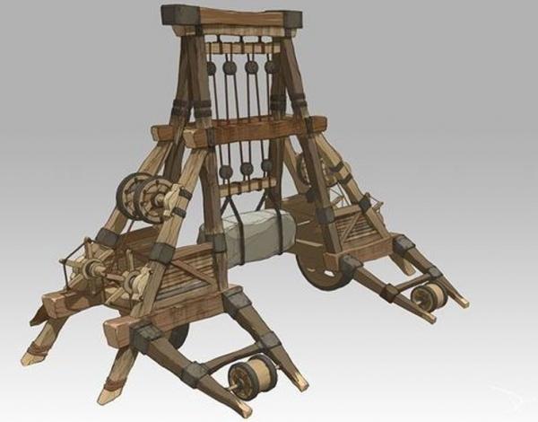 仿真机械模型-木车
